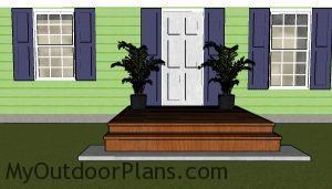 8x8 deck plans - front view