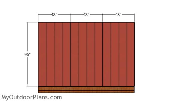 Back wall siding panels