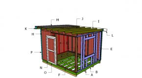 10×12 Flat Shed Roof Plans