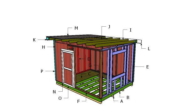 Building a 10x12 flat roof shed