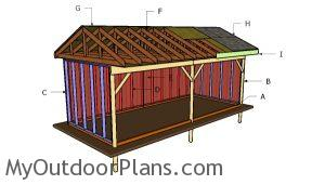 Building a 10x24 field shed
