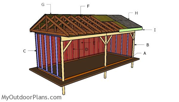 10x24 Field Shed Roof Plans