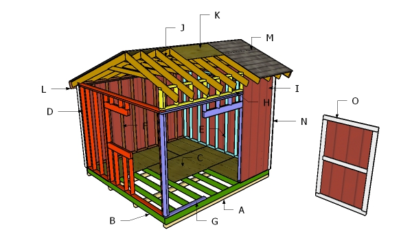 Building a 12x12 saltbox shed