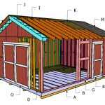 14×18 Gable Shed Roof Plans