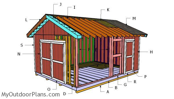 14 18 gable shed roof plans myoutdoorplans free for 18 x 24 shed plans