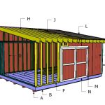 16×20 Lean to Shed Roof Plans