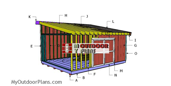 Building-a-16x20-lean-to-shed