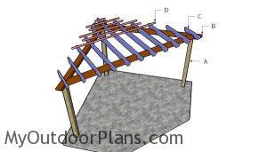 Building a corner pergola