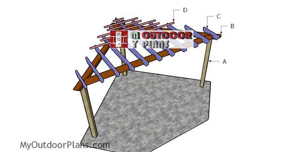 Building-a-corner-pergola
