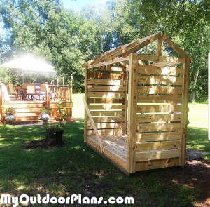 Building-a-firewood-shelter