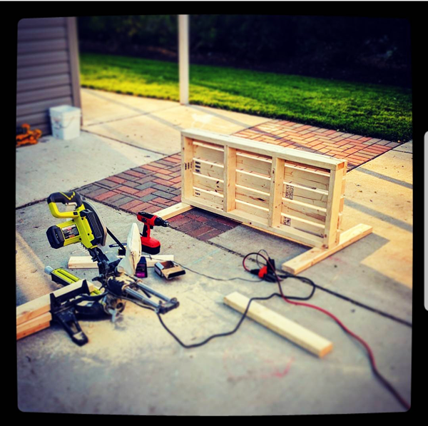Building-a-garden-bench