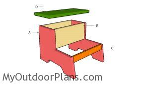 Building a kids step stool