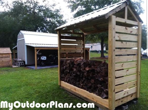 DIY Firewood Shelter