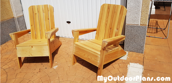 DIY Modern Adirondack Chairs