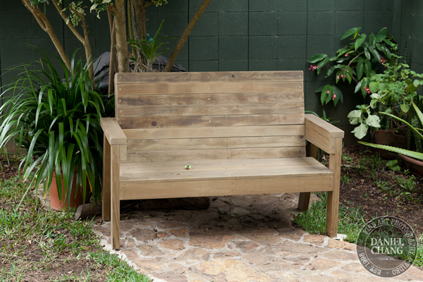 DIY 2x4 Outdoor Wooden Bench