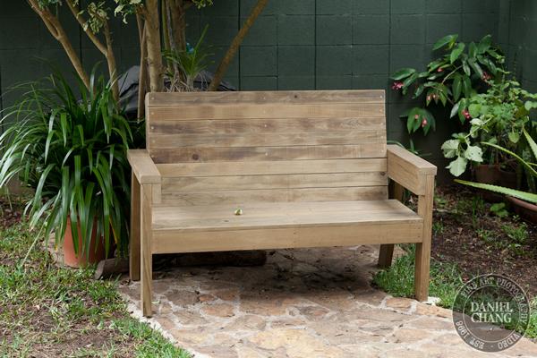 DIY 2x4 Outdoor Wooden Bench