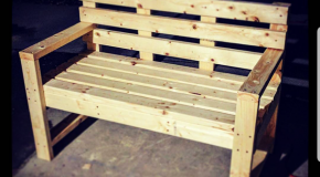 DIY 2×4 Outdoor Bench with Backrest