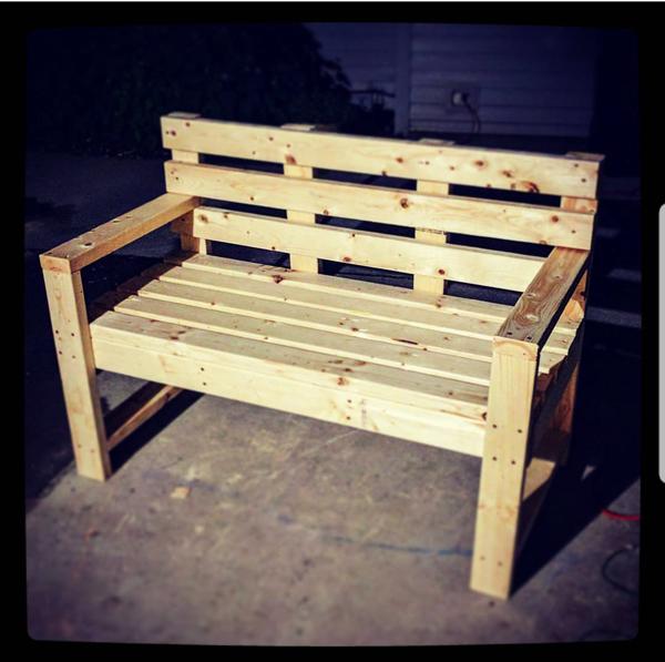 DIY 2×4 Outdoor Bench with Backrest | MyOutdoorPlans ...