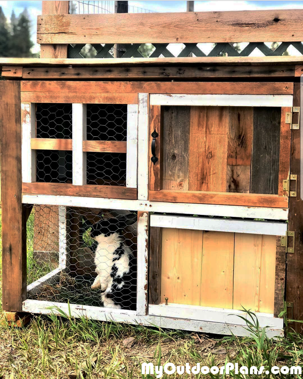 DIY Recycled Rabbit Hutch