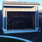 DIY 4×8 Saltbox Firewood Shed