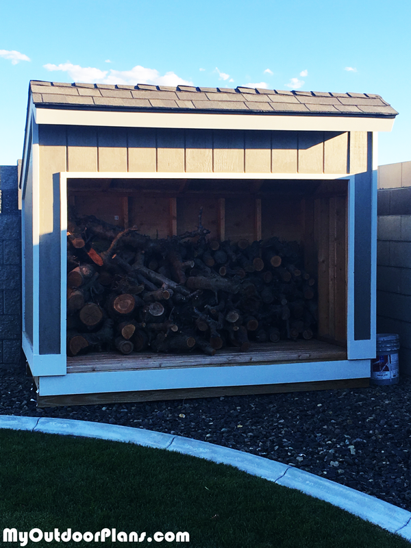 DIY 4x8 Saltbox Firewood Shed