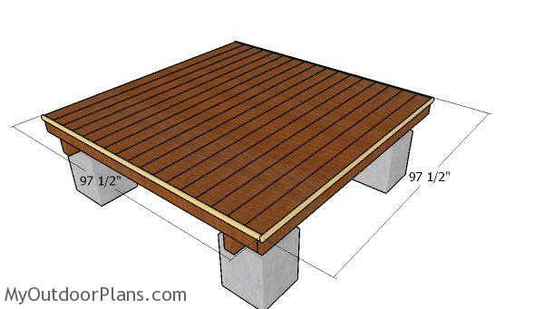 Fitting the deck trims