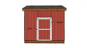 12×12 Saltbox Shed Door Plans