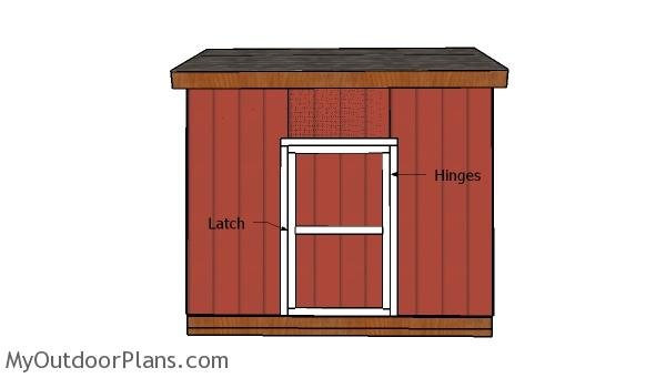 12x12 Saltbox Shed Door Plans