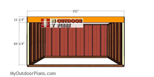 Fitting-the-front-wall-frame