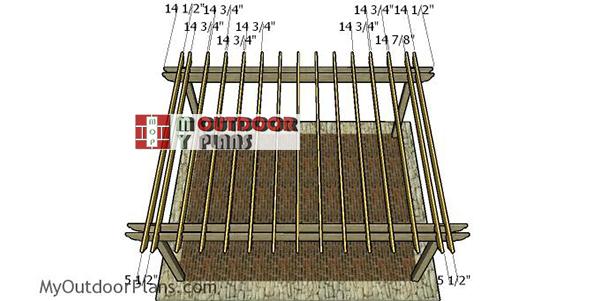 Fitting-the-shade-elements---16x20-pergola