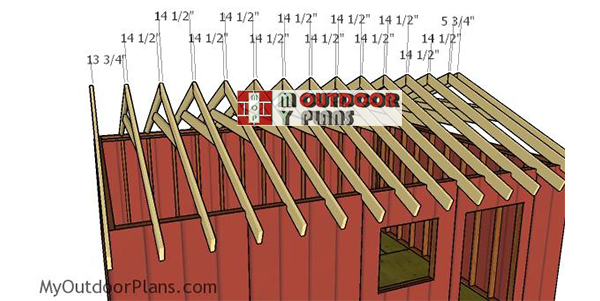 Fitting-the-trusses-14x18-shed
