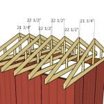10×12 Field Shed Roof Plans
