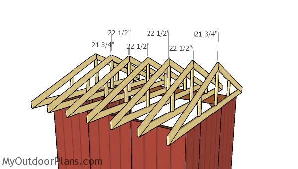 10x12 Field Shed Roof Plans
