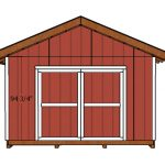 14×18 Gable Shed Doors Plans
