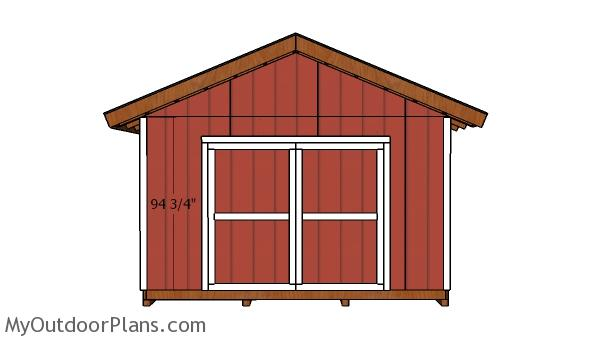 14x18 Gable Shed Doors Plans