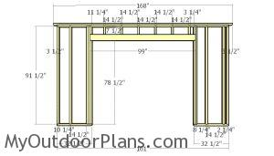 Front wall frame