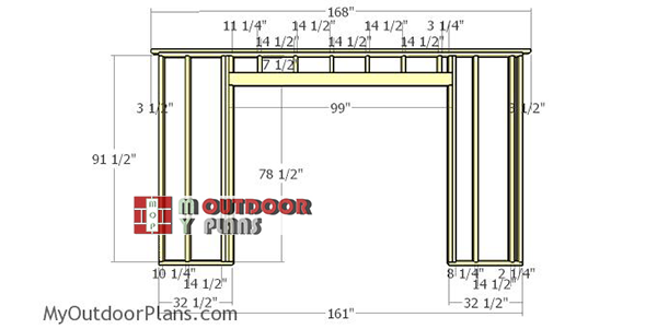 Front-wall-frame---14-ft-shed