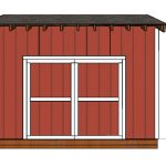 14×12 Saltbox Shed Door Plans