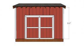 14×12Saltbox Shed Door Plans