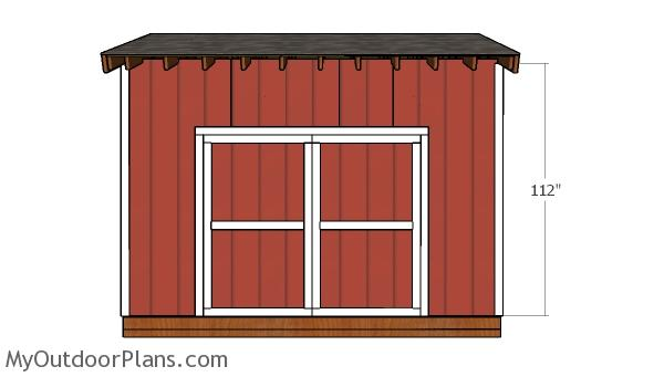 14x12 Saltbox Shed Door Plans
