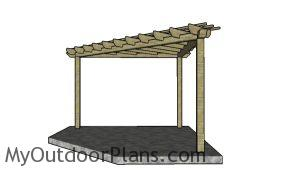 How to build a corner pergola