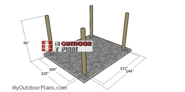 Laying-out-the-posts-10x12-pergola