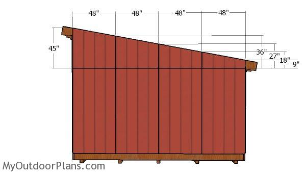 Lean to siding panels