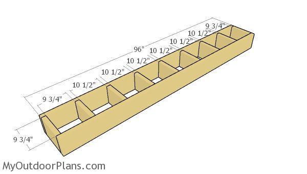 One step stair frame