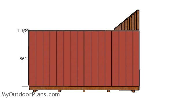 Side siding sheets
