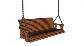Simple 5 ft Porch Swing Plans
