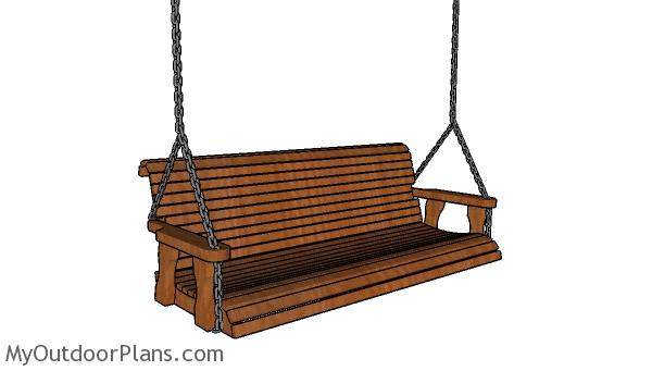 Simple 5 ft Porch Swing Plans