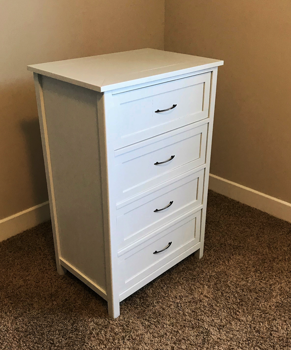 DIY 4 Drawer Dresser