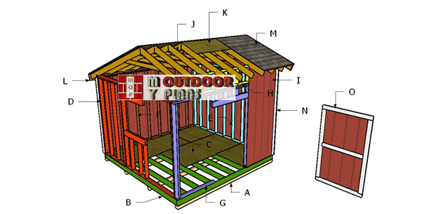 Building-a-12x12-saltbox-shed