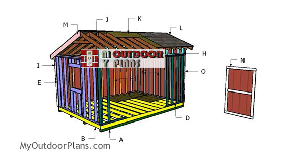 Building-a-12x14-saltbox-shed